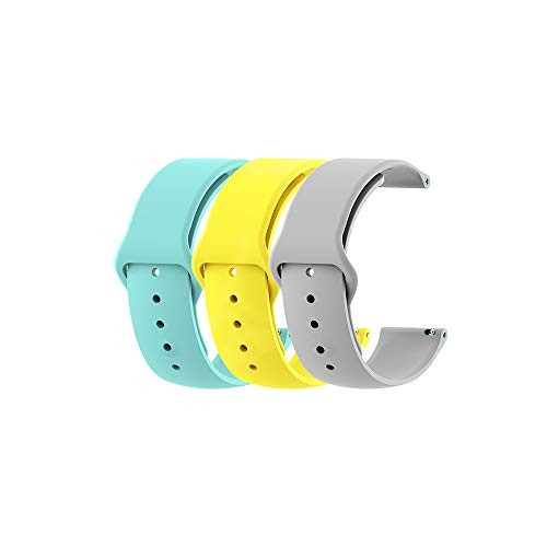 18MM Silicone Watch Bands for Withings Activite Steel HR/Pop/Fossil Q Gen 3 Venture/Gen4 Venture/Venture HR Ticwacth C2 Quick Release Strap for Mens Womens