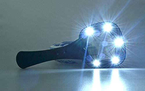 GBX Lupa, lupa portátil multipropósito, lector de recetas Lupa de espejo rectangular con lámpara Función Yanchao 5X Lupa de mano antideslizante resistente al agua esmerilada suave