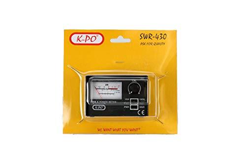 K-PO SWR-430 Medidor de estacionarias R.O.E. / Watimetro 100 watios Frecuencias de 26-30 MHz