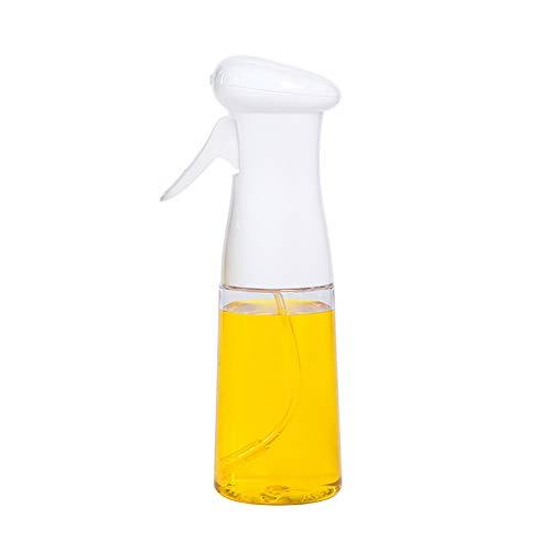J&Y Olivenöl Sprayer, dicht Öltopf, transparent Essigflasche Ölspender, für Grill/Salat/Backen/Braten Küche,Weiß