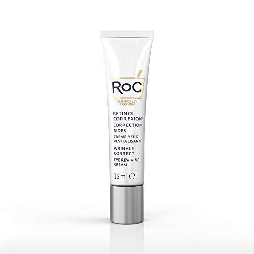 RoC - Retinol Correxion Wrinkle Correct Crema Contorno de Ojos - Antiarrugas y Antiedad - Con Retinol y Ácido Hialurónico - Sin Fragancia - 15 ml