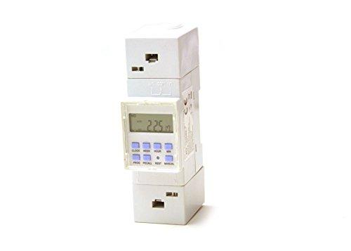 edi-tronic Zeitschaltuhr digital für Hutschiene Einbau Schaltschrank Zählerschrank 230V 16A