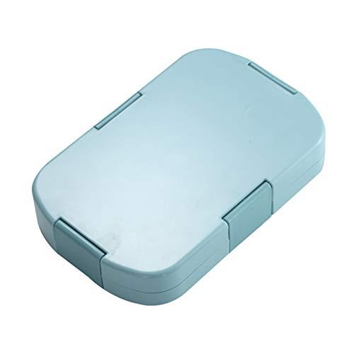 LCM Fiambrera ecológica 920ml Material Sano Caja de Almuerzo 6 Grid Bento Box Microondas Servicio de vajilla Almacenamiento de Alimentos Recipiente Caja de Almuerzo Contenedor Bento Box