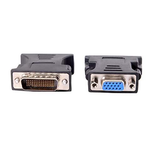 JIE 1 a 1 DMS-59 DMS59 59Pin DVI Macho a 1 Puerto VGA Hembra Video Y Splitter Negro