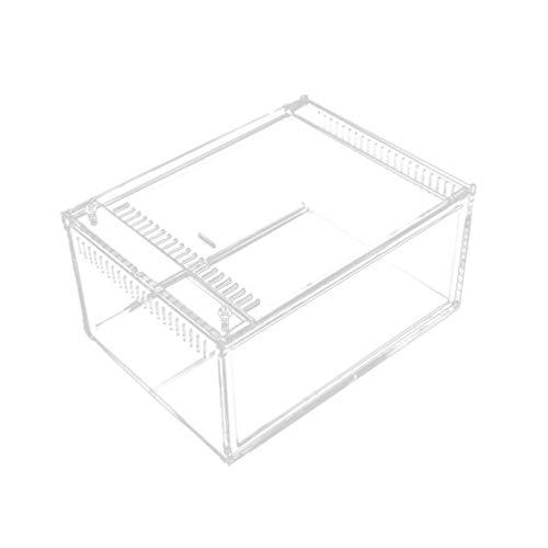 Balacoo Caja de Cría de Reptiles Pequeño Terrario Acrílico Transparente Almacenamiento de...