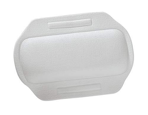WENKO 3001401100 Nackenpolster Florida Weiß - Rutschstopp, mit Saugnäpfen, Kunststoff, 34.5 x 2.3 x 24 cm, Weiß