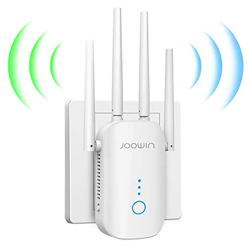 JOOWIN Ripetitore WiFi Wireless 1200Mbps WiFi Extender Dual Band 5GHz/2.4GHz Amplificatore Access Point/Ripetitore/Router modalità, Ethernet Porta, 4 Antenne