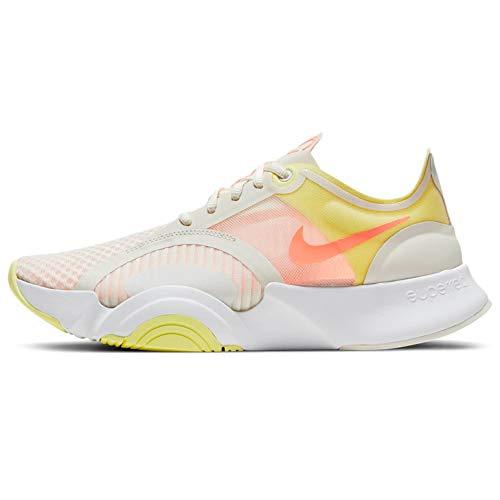 Nike Superrep Go - Zapatillas de entrenamiento para mujer Cj0860-102, Marfil pálido/Bright Mango-lt Zitron, 40.5 EU