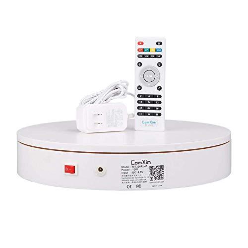 Isunking 220V 32cm Elektrischer Drehteller für Fotografie, 40kg Kapazität, 360 Grad Fotostand, Geschwindigkeit und Richtung der Fernbedienung 24-68s/r (32cm)