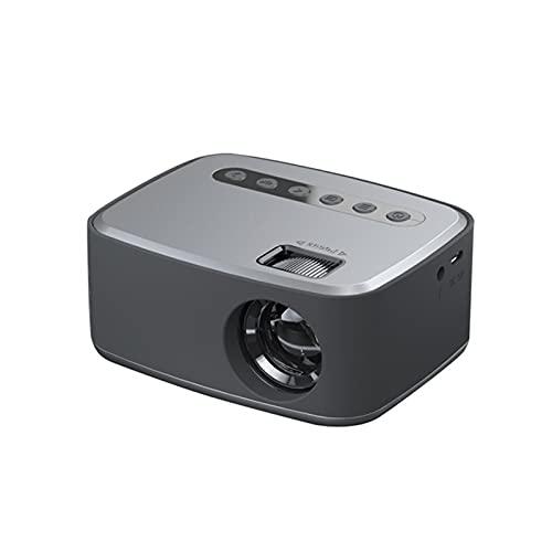 LXLTL Proyector, Compatible Altavoces Incorporados Conecte Auriculares, computadoras, decodificadores, estéreos, DVD, Discos U y Otros Dispositivos de reproducción,Gris