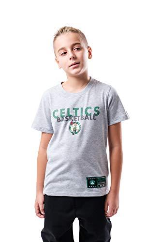 Ultra Game NBA Boston Celtics Youth Jersey Active Tee Shirt, Heather Gray, 10/12