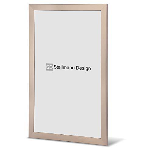 Stallmann Design Bilderrahmen New Modern 50x70 Puzzleformat cm Bronze Rahmen Fuer Dina 4 und 60 andere Formate Fotorahmen Wechselrahmen aus Holz MDF mehrere Farben wählbar Frame für Foto oder Bilder