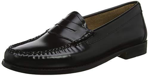 G.H. Bass & Co. Damen Penny Slipper, Schwarz (Black Leather 000), 40 EU