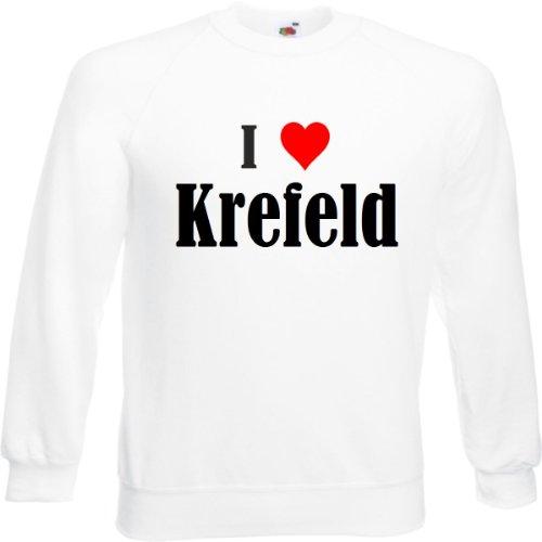 Reifen-Markt Sweatshirt I Love Krefeld Größe 2XL Farbe Weiss Druck Schwarz