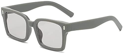 Gafas de sol de moda personalidad de moda nueva caja grande moda tricolor marco gafas de sol centenares gafas de sol-platino