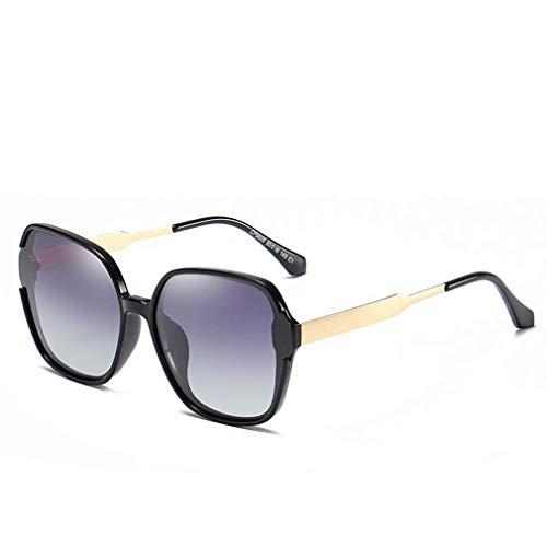 WSDSX Gafas de sol deportivas polarizadas, Gafas de sol polarizadas para exteriores Gafas de sol cuadradas de gran tamaño Gafas con protección UV400 Gafas deportivas, Negro