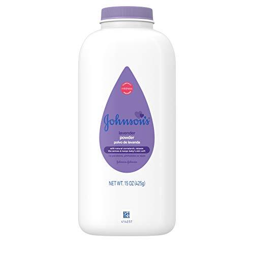 Johnson's Lavender Baby Powder with Naturally Derived Cornstarch, Hypoallergenic and Paraben Free, 15 oz