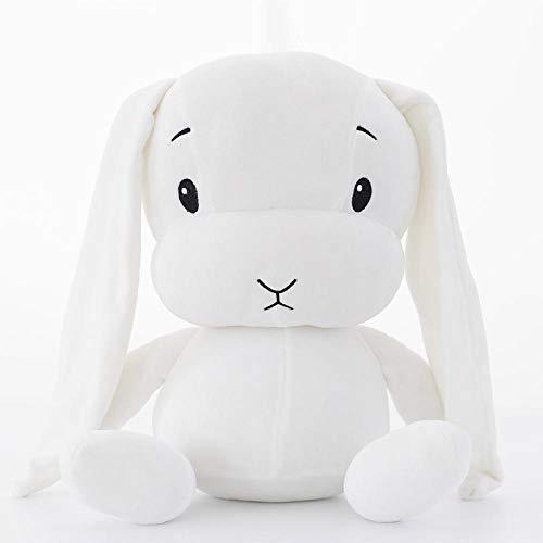 CZMCQM Ins Nueva Tela Suave y cómoda Conejo se Queda Conejo de la Suerte Juguetes de Peluche muñeca para Dormir bebé-Modelos Blancos_50Cm-0.5Kg