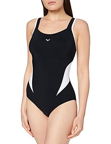 arena Makimurax Einteiliger Badeanzug Damen B-Cup, Figurformender Bodylift Schwimmanzug, Powermesh-Technologie und Chlorbeständiger Sensitive-Fit-Stoff