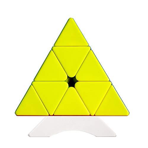 OJIN YongJun YJ Yulong Pyramid V2 M Smooth Pyraminx M 3x3 Cube Tetrahedron Rompecabezas la versión Mejorada V2 Pyraminx M con One Cube Tripod (Sin Etiqueta)