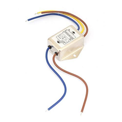 Filtro 125/250 V monofásico 50/60 Hz, 10 A, monopolar, CW1B-10A-L (040) EMI Universal para dispositivos médicos y máquinas con baja corriente de fuga