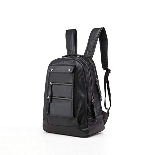 WHSS Outdoor Backpack Men's First Layer Leather Backpack Leather Backpack/Leisure Travel Bag/Computer Bag