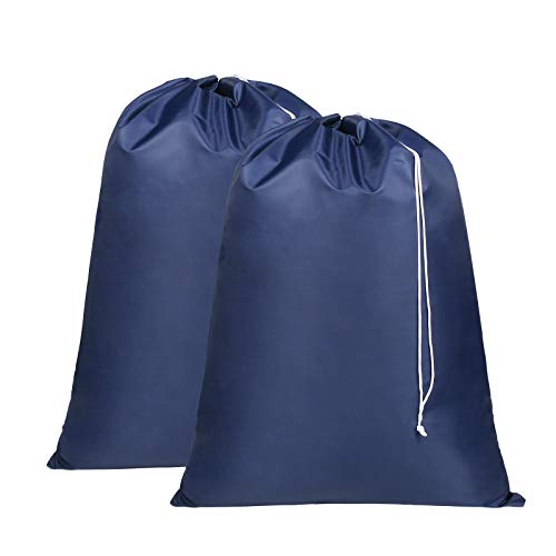 Laundry Bag- Heavy Duty Extra-Large Drawstring Bag Rip and Tear Resistant-2Pack-287 x 355 inch -Machine Washable Laundry Liner for Laundry Hampers Dirty Clothes Bag for College Apartments