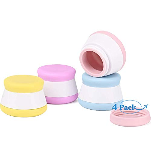 20ml Kosmetische Behälter, Leere Kleine Dosen mit Schraubverschluss für Cremes, Tabletten und Lotionen, 4 Stück Behälter für Kosmetik Reise Cremedose Silikon Makeup Döschen zum Hause und im Freien