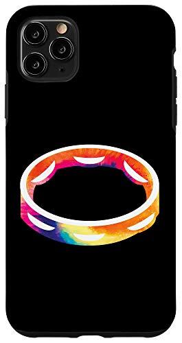 iPhone 11 Pro Max Tambourine Gift for Tambourine Player Tie Dye Tambourine Case