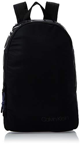 Calvin Klein Herren Trail Round Backpack Rucksack, Schwarz (Black), 14x42x28 cm
