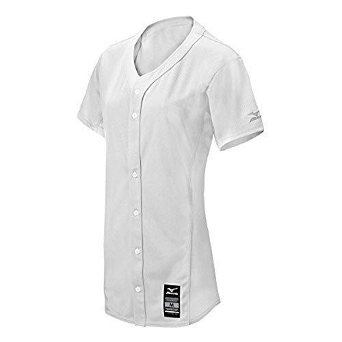 Mizuno 350581.0000.03.XS Pro Full Button Game Jersey XS White