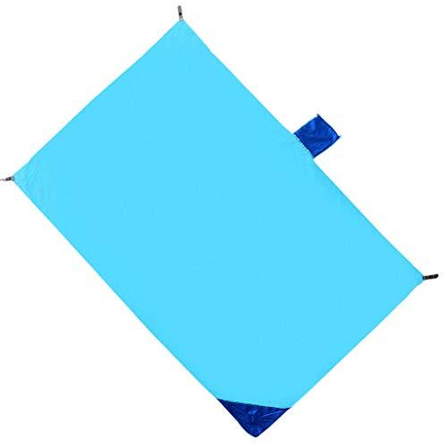 Baoblaze Couverture de Camping Pliable Abri Rainfly de Tapis de Pique-Nique de Plage en Nylon - Bleu Clair