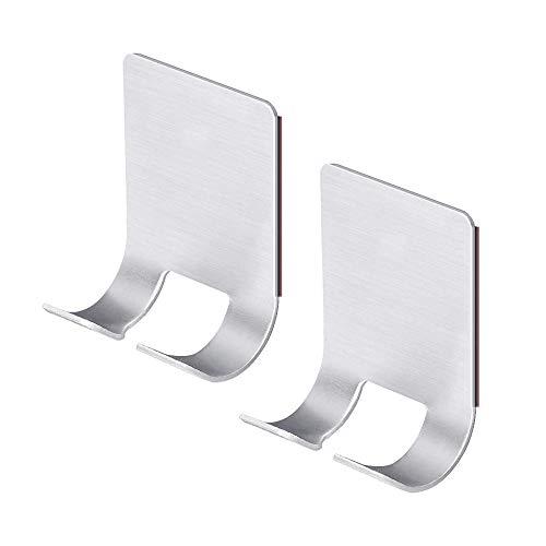 HXHON 2 soportes para maquinilla de afeitar con ventosa autoadhesiva, soporte de acero inoxidable para montar en la pared, organizador de maquinilla de afeitar impermeable y resistente al óxido, organizador de baño y ducha