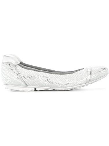 Luxury Fashion | Hogan Dames HXW14407124I7T0351 Zilver Leer Ballerina's | Seizoen Outlet