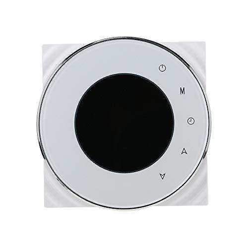 Funien Termostato de Ambiente programable, White BAC-5000 95~240VAC Calentamiento de Dos Tubos Refrigeración Pantalla táctil Digital LCD 5 + 2 Memoria de Datos programable semanal Unidad de Bobina