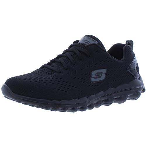 Skechers Womens Memory Foam Workout Running Shoes Black 9 Medium (B,M)