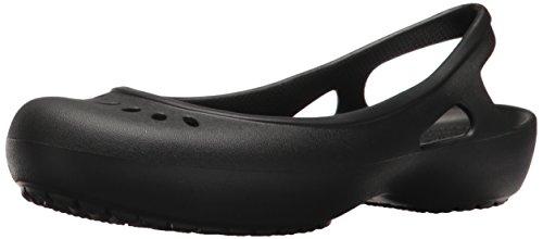 Crocs Women's Kadee Slingback W Ballet Flat, Black, 9 M US