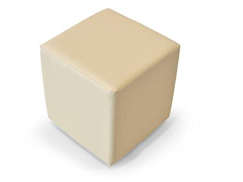 moebel-eins KUBUS Sitzwürfel Bandscheibenhocker Sitzhocker Fußhocker in beige 50x45x45 cm, beige