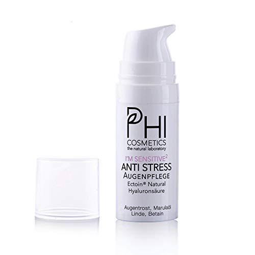 Phi - I´m sensitive. Natürliche Augencreme für sensible Haut, mit Augentrost, Marulaöl und Linde. Ectoin® Natural + Hyaluronsäure. 12,5 ml