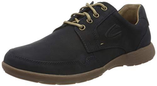 camel active Folk, Zapatos de Cordones Derby Hombre, Azul (Midnight 01), 39 EU
