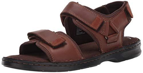 Clarks Men's Malone Shore Sandal, Tan Leather, 90 M US