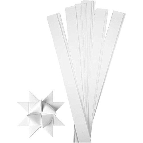 Creativ Company 20717 Papierstreifen zum Falten von Sternen, 100 Stück, Weiß