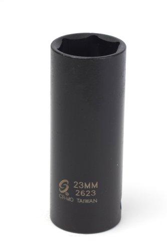 Sunex 2623 1/2-Inch Drive 23-Mm Extra Thin Wall Deep Impact Socket