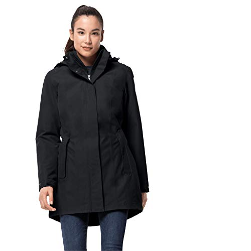 Jack Wolfskin Damen Madison Avenue Coat Mantel, Grau (phantom), M