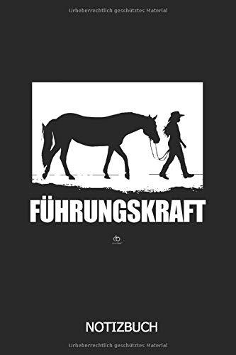 Führungskraft Notizbuch: DIN A5 Pferde Notizheft | 110 Seiten liniertes Pferde Notizbuch | Pferde Geschenkidee | Für Reiter