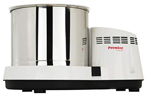 Premier Compact Wet Grinder 110V - 2.0 Liters | White Color | Dosa and Idly Wet Grinder