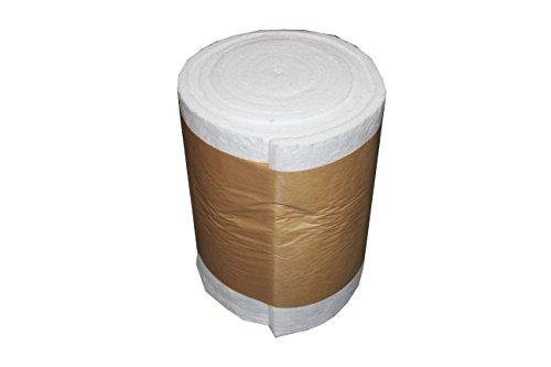 Keramikfaser bis 1200°C Isolierung für Holzbacköfen Steinbacköfen Pizzaöfen (Abmessung, 7320 x 610 x 25,4mm)