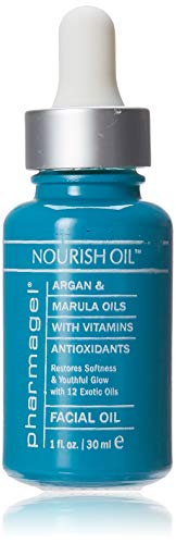 Pharmagel Nourish Facial Oil | Anti Aging Face Oil with 12 Exotic Oils including Avocado and Rosemary Seed | Dry Skin Relief | 1.0 fl. oz.