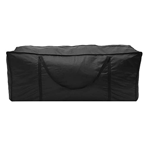 Flymer Garden Cushion Storage Bag Waterproof Outdoor Storage Bag for Patio Cushions with Durable Handles Black (173 * 76 * 51cm)