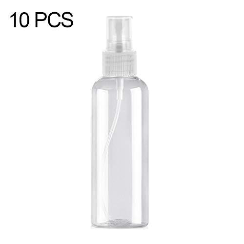 BOYUHII Sprühflasche 10 PCS 100ML PET Klare Sprühflasche Desinfektionslösung Container ATCYE